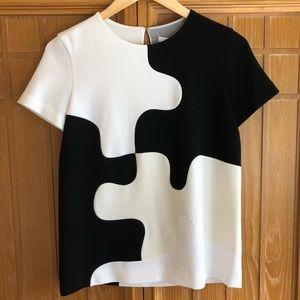 Diane Von Furstenberg Mel Colorblock Puzzle Top 0